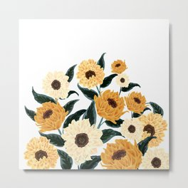 Many Sunflowers Metal Print