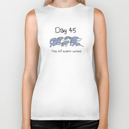 Day 45: They Still Suspect Nothing (Unicorn and Narwhals) Biker Tank