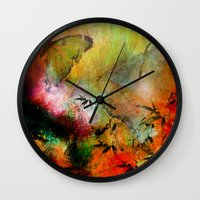 chinese Wall Clocks featuring Chinese landscape by Ganech joe