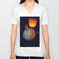 merry christmas V-neck T-shirts featuring Merry Christmas by  Agostino Lo Coco
