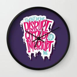 Love Interruption Wall Clock