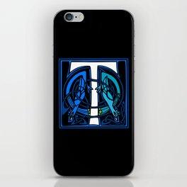 Celtic Peacocks Letter T iPhone Skin