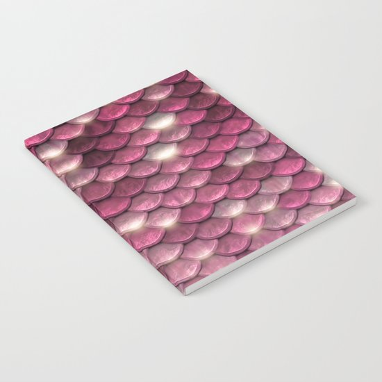 Pink sparkling scales Notebook