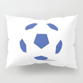 Football image in dazzling blue and white space Pillow Sham