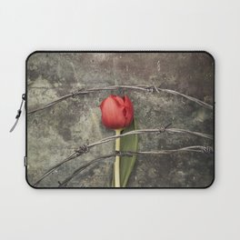 Tulip and barbed wire Laptop Sleeve