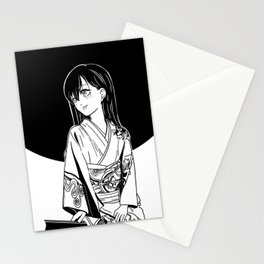black moon girl Stationery Cards