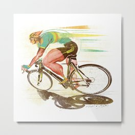 The Sprinter, Cycling Edition Metal Print