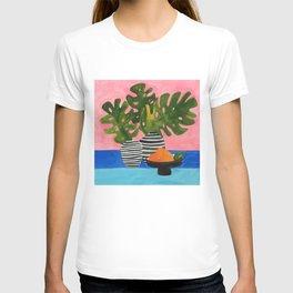 Pink Wall Monstera T-shirt