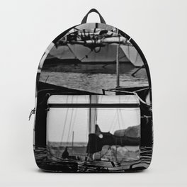 Docked Boats-B&W Backpack