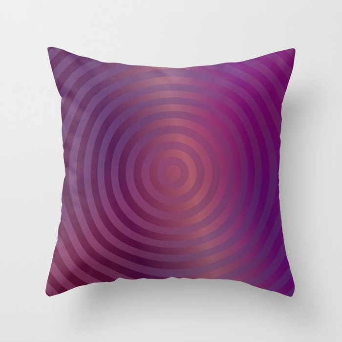 Purple concentric circles Throw Pillow by davidzydd Society6