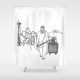 Mr Big on Bass in Seattle Shower Curtain
