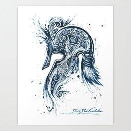 Moriquendi Elven Helm 2 Art Print