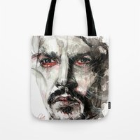johnny depp Tote Bags featuring Johnny Depp by KlarEm