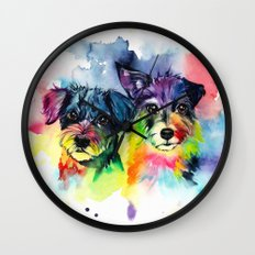 Mollie and Roulette Wall Clock
