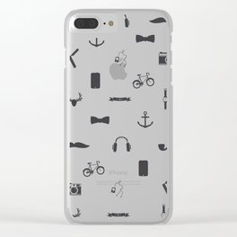 065 Hipster Clear iPhone Case
