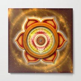 "Svadhisthana Chakra - Sacral Chakra - Series ""Open Chakra"" Metal Print"