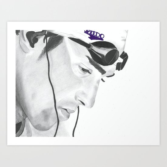Michael Phelps Art Print
