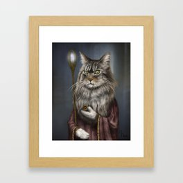 Wizard Cat Framed Art Print