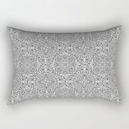 Fruits and Veggies - cute faces on healthy foods - symmetrical pattern Rectangular Pillow