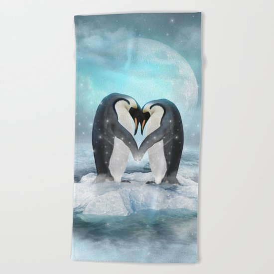 Listen Hard (Penguin Dreams) Beach Towel