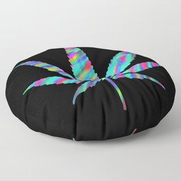 Weed : High Time Colorful Psychedelic Floor Pillow