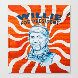 Willie For President Canvas Print