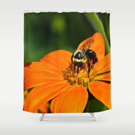 Bumblebee Hard At Work Shower Curtain