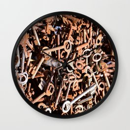skeleton key Wall Clock