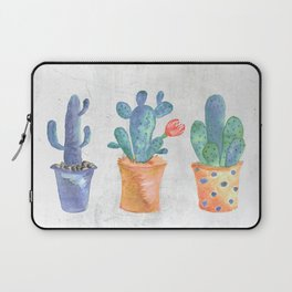 Three Blue Cacti Laptop Sleeve