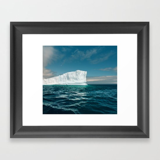 North Atlantic Iceberg Framed Art Print