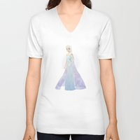 elsa V-neck T-shirts featuring Elsa by Maggins