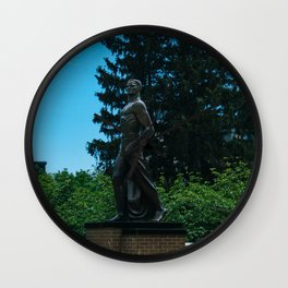 The Spartan Statue Wall Clock