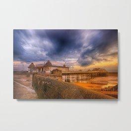 A storm brewing over Cromer Pier Metal Print
