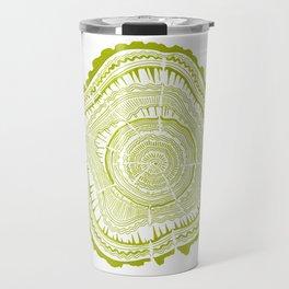Lime Tree Rings Travel Mug