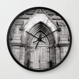 The Doors are but One Way In Wall Clock