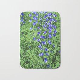 Blue False Indigo- vertical Bath Mat
