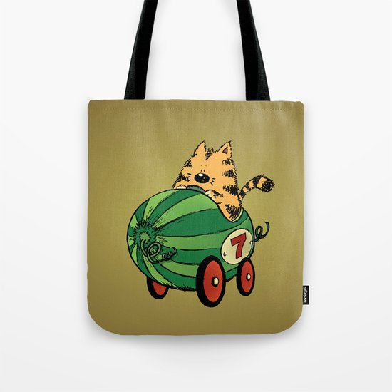 Albert and his watermelon ride Tote Bag