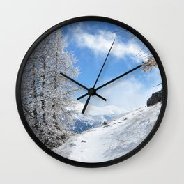 The Untraveled Path Wall Clock