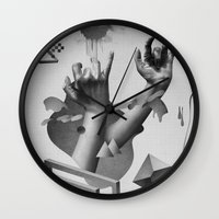 hands Wall Clocks featuring Hands by Oh Yeah Studio