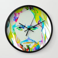 jesus Wall Clocks featuring Jesus by DApple