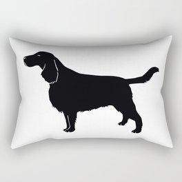 English Springer Spaniel Dog Breed Silhouette Rectangular Pillow