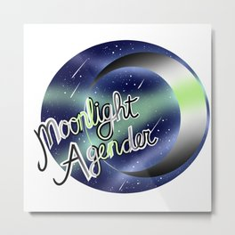 Agender Moonlight Pride Metal Print