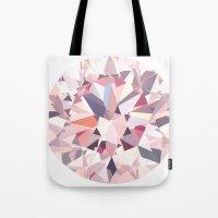 diamond Tote Bags featuring diamond by Kazuma Shimizu