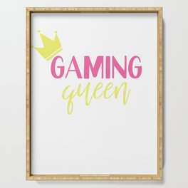 Gaming Queen Play Gemes Online Serving Tray