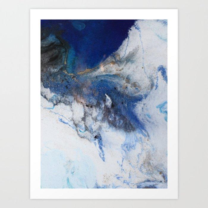 Abstract blue marble Kunstdrucke