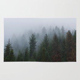 Into the Deep, Foggy, Forest Rug