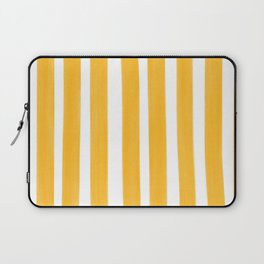 Sunny Yellow Paint Stripes Laptop Sleeve