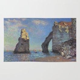 Claude Monet's The Cliffs at Etretat Rug