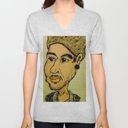 Young man with hat Unisex V-Neck