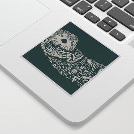 The handsome sea otter Sticker